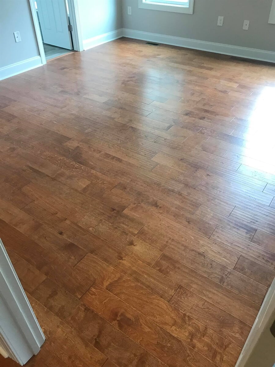 High gloss hardwood floors in Lawrenceville, GA