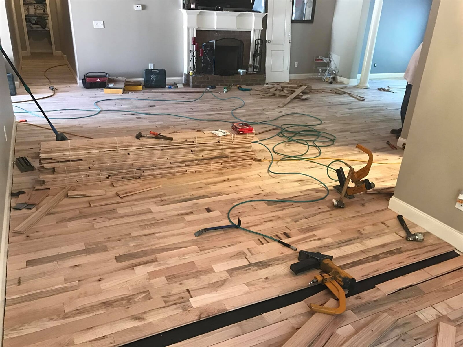 Hardwood planks installed one at a time in Watkinsville, GA