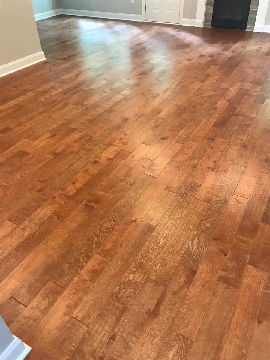 Medium tone hardwood installation in Winder, GA
