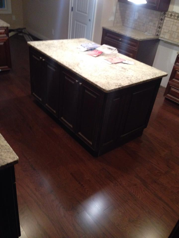 Dark tone hardwood installation in Lawrenceville, GA