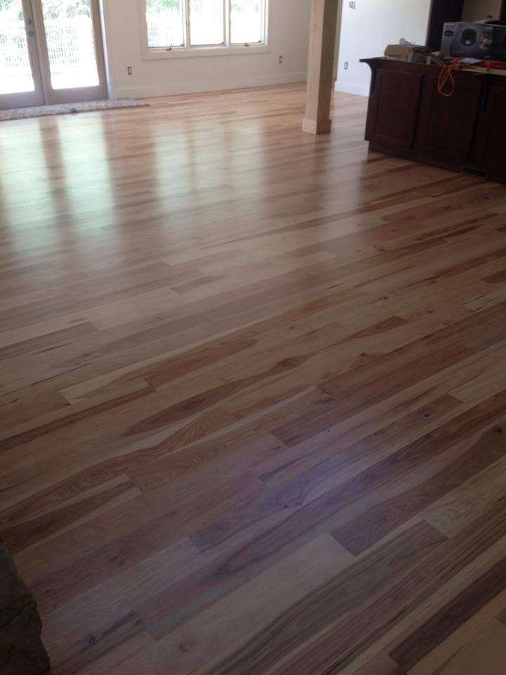 Natural finish hardwood floors in Winder, GA