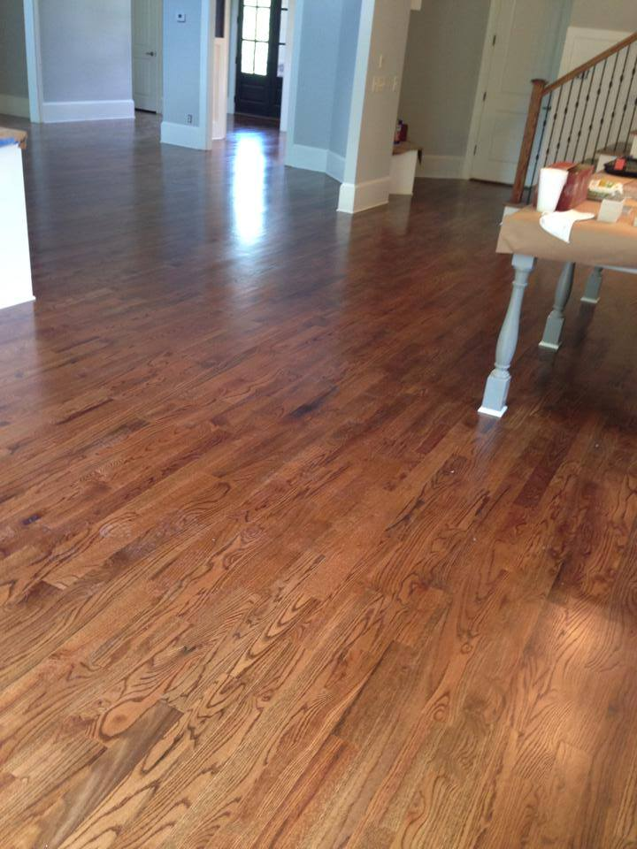 Hickory hardwood flooring installation from Carpets Unlimited in Athens, GA