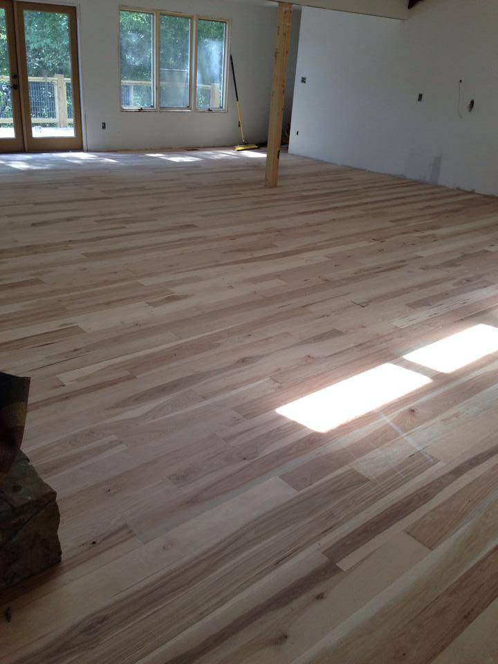Clear finish oak hardwood flooring in Lawrenceville, GA