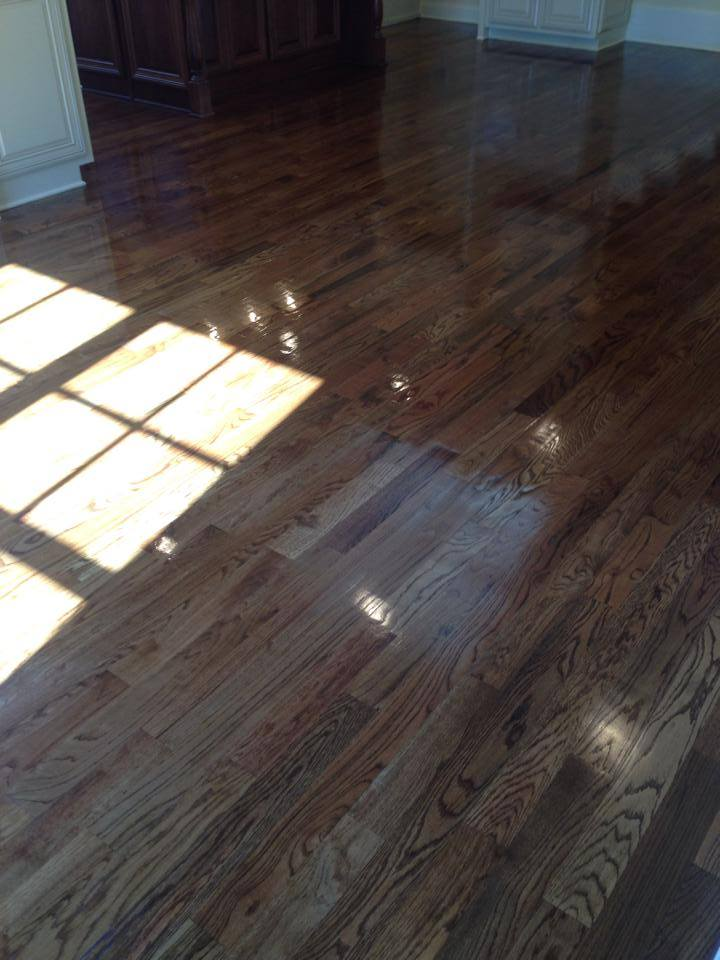 Hardwood installation in Winder, GA with medium tone planks