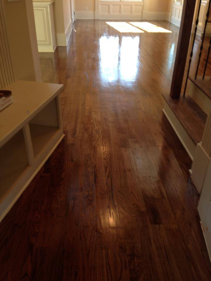 Hardwood installation in entryway in Watkinsville, GA