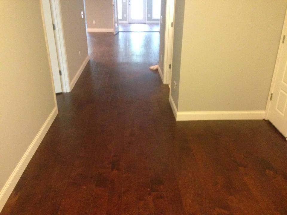 Dark maple hardwood in Watkinsville, GA from Carpets Unlimited