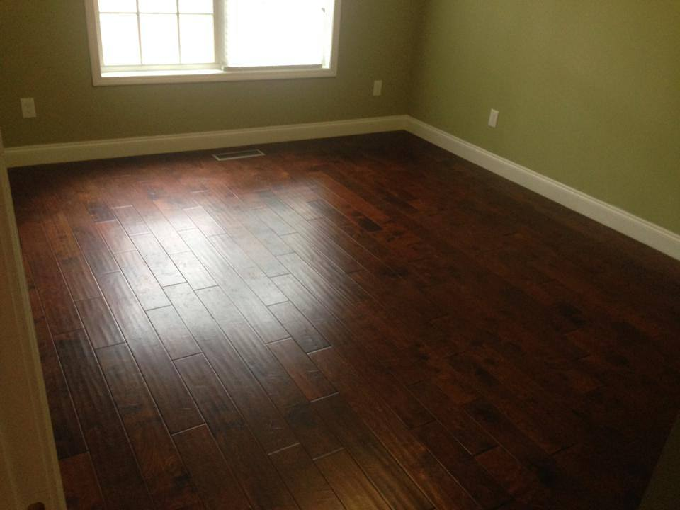 Acacia hardwood flooring installation from Carpets Unlimited in Athens, GA