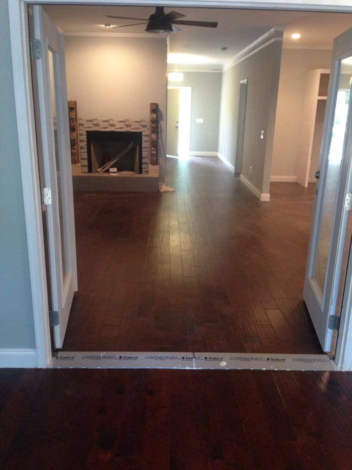 Multi level hardwood installation in Watkinsville, GA from Carpets Unlimited