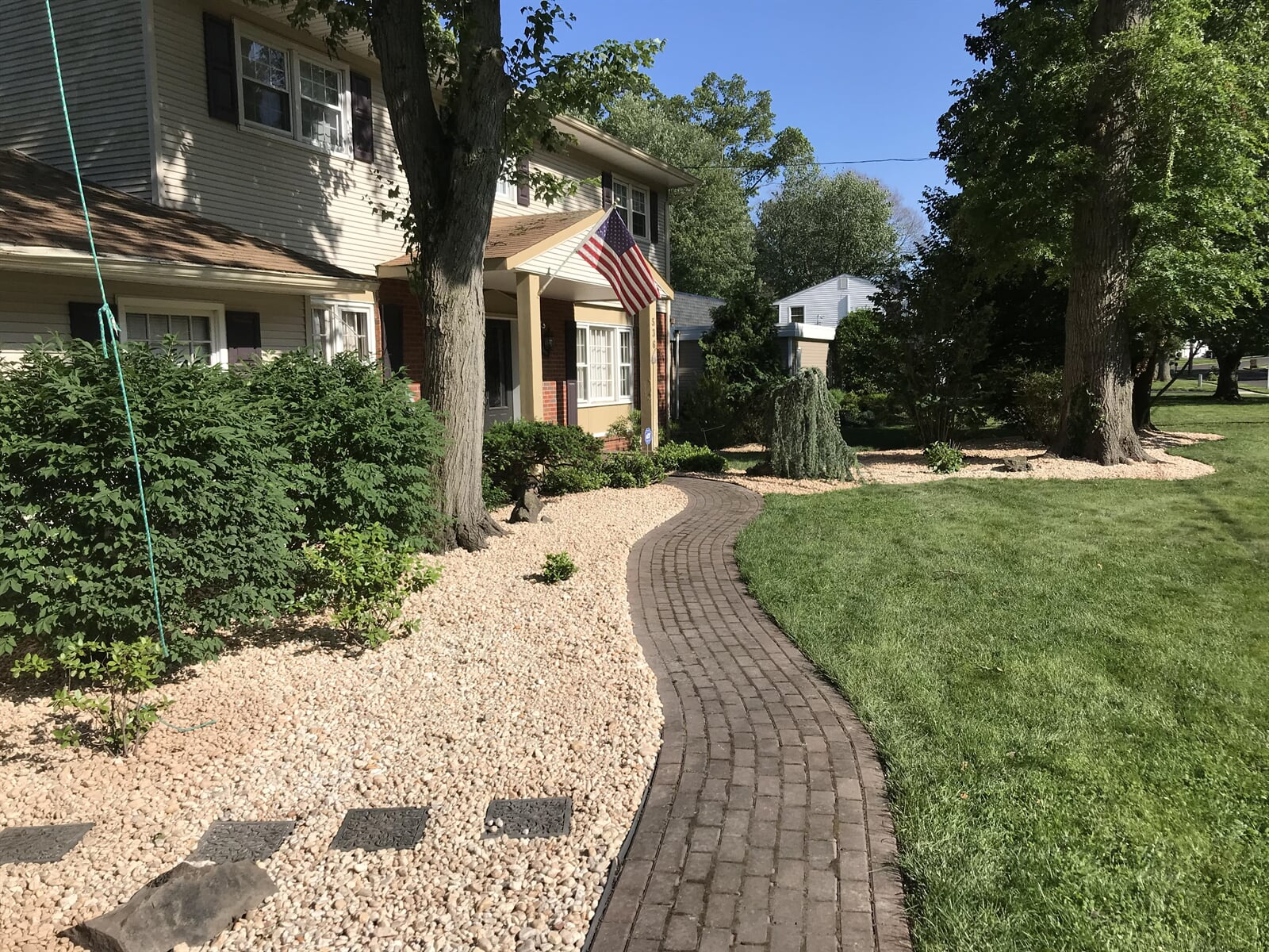 Brick Walkway up to House