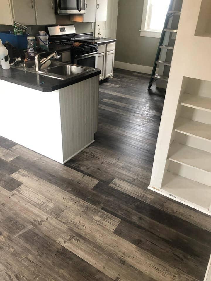Modern wood look waterproof flooring in Pioneer, OH from Carpet Wholesalers