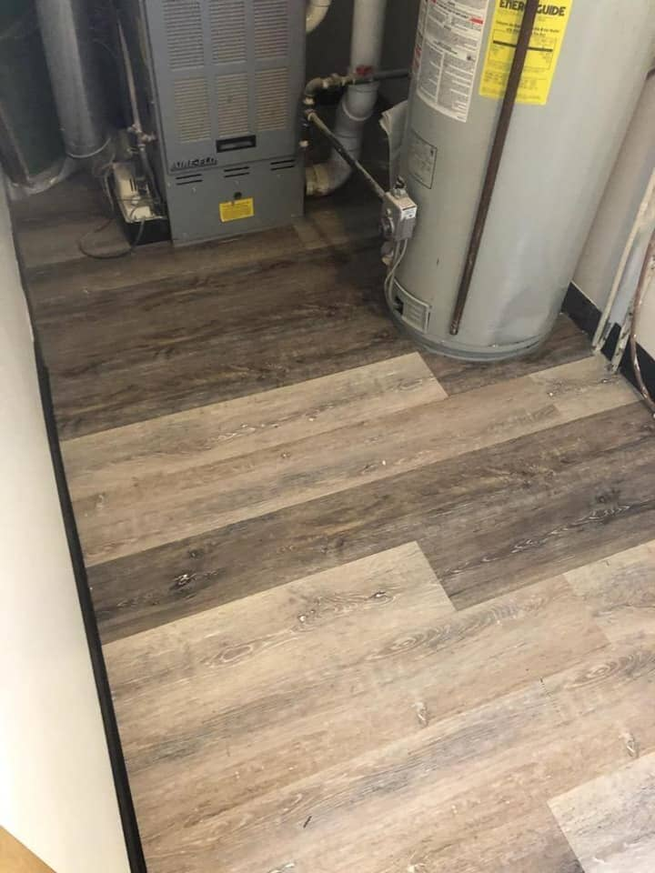 Custom flooring with a rustic look in Bryan, OH from Carpet Wholesalers