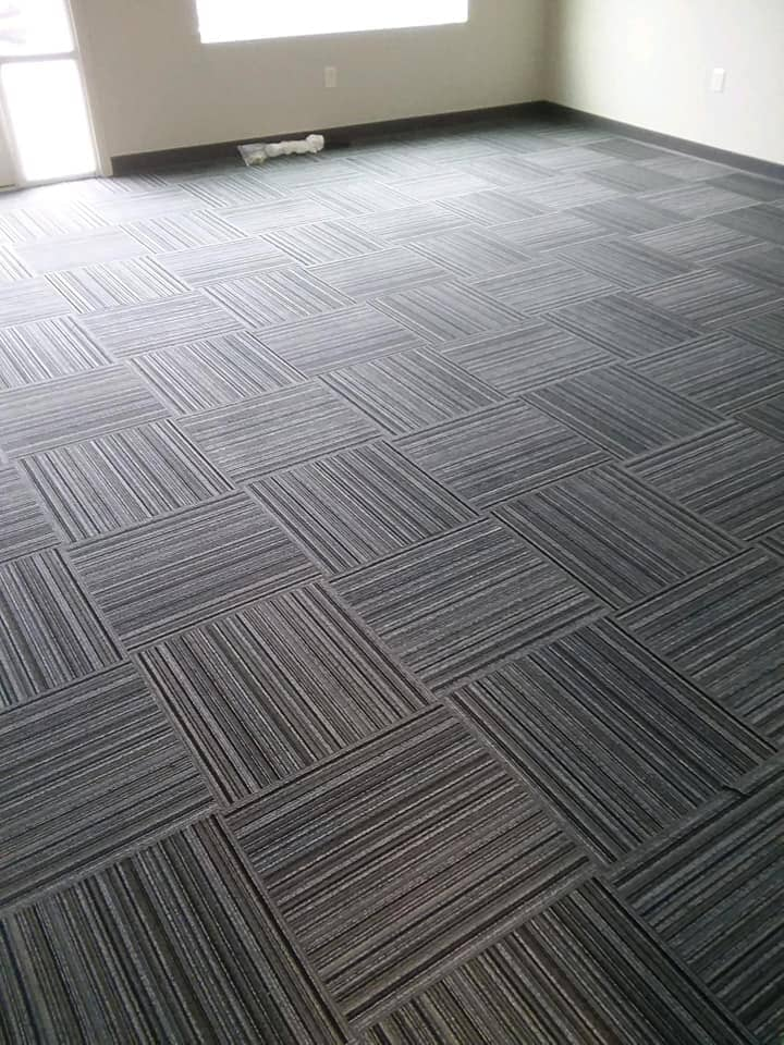 Carpet tile flooring installation in Pioneer, OH from Carpet Wholesalers