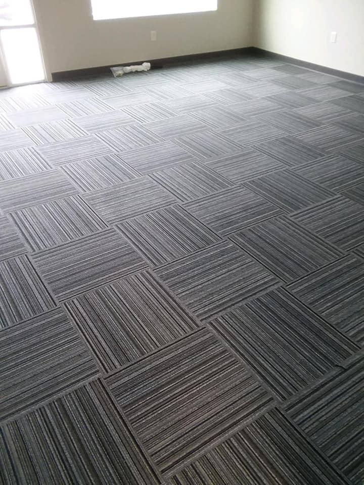 Carpet tile flooring installation in Pioneer, OH from Carpet Wholesalers