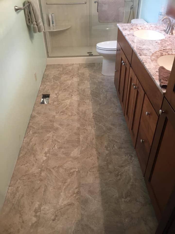 Classic bathroom renovation in Van Wert, OH from Carpet Wholesalers