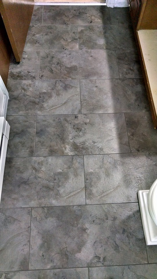 Beautiful tile flooring installation in Convoy, OH from Carpet Wholesalers