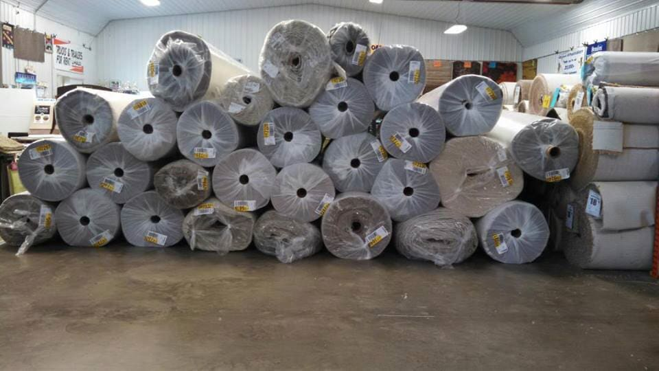 Our carpet rolls stacked high and ready for your Hamler, OH home renovation