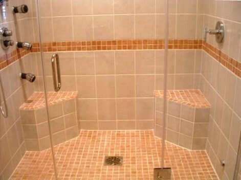 Large shower remodel in Hartford, CT from Custom Floors