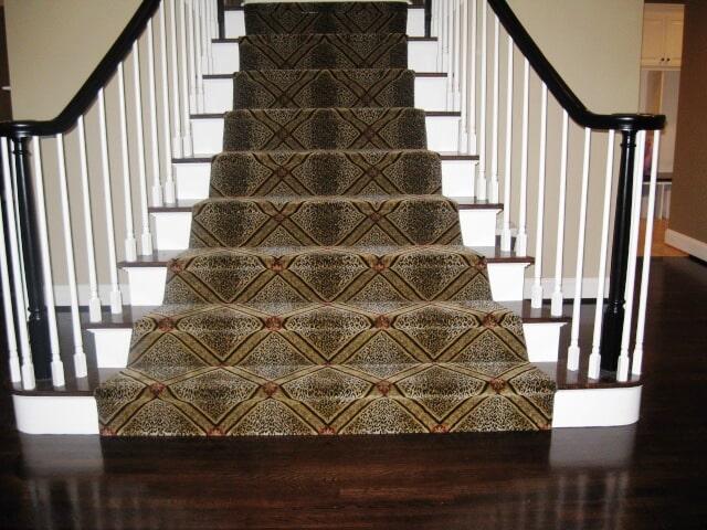 Beautiful stair runner in Wethersfield, CT from Custom Floors