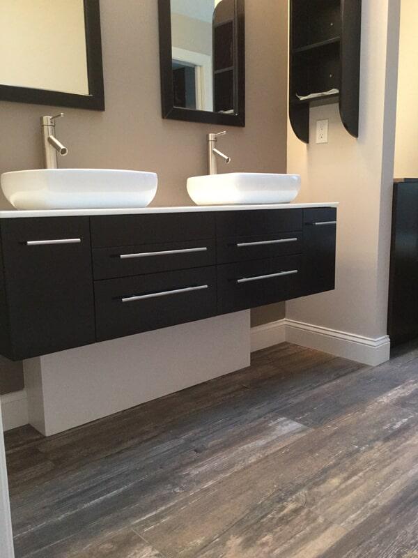 Modern bathroom vanity in Cromwell, CT from Custom Floors