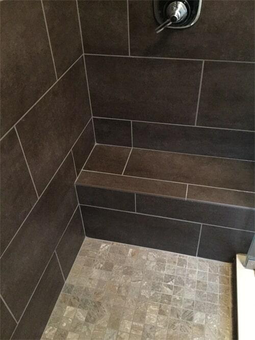Built in shower bench in Hartford, CT from Custom Floors