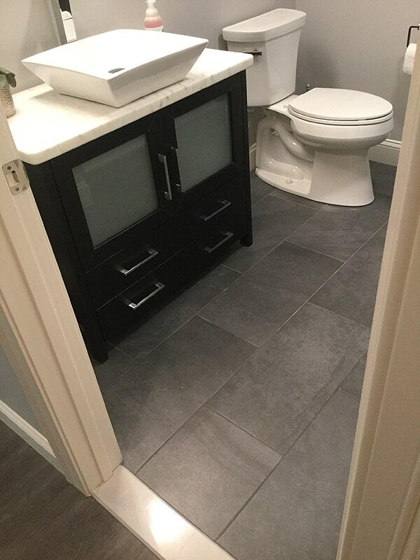 Modern bathroom remodel in Wethersfield, CT from Custom Floors