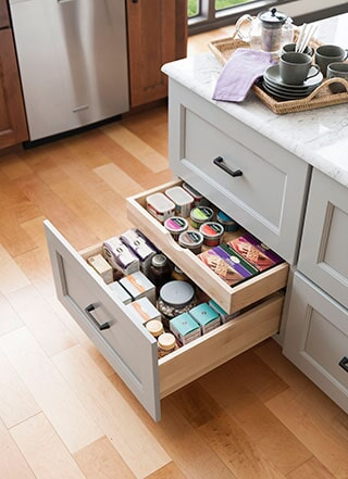 Cabinet drawers from Strait Floors in