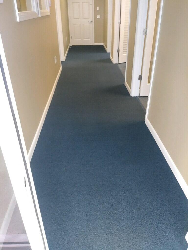 Royal Blue Commercial carpet installed (1)