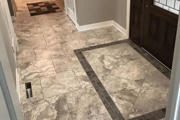 Tile flooring from Kluesner Flooring in Peosta, IA
