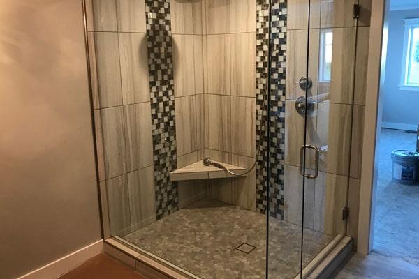 Shower tiles from Kluesner Flooring in Edgewood, IA