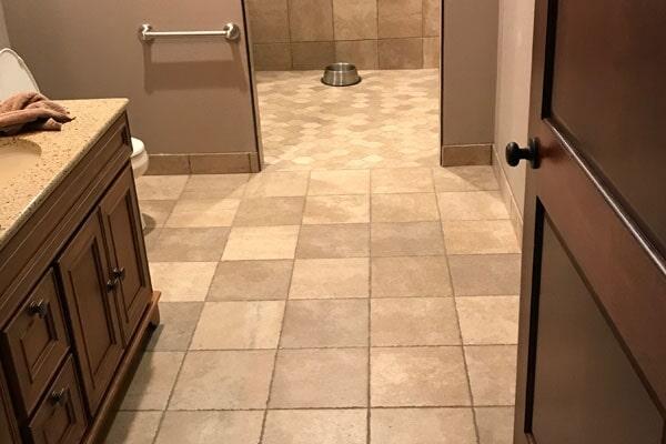 Tile flooring from Kluesner Flooring in Dyersville, IA