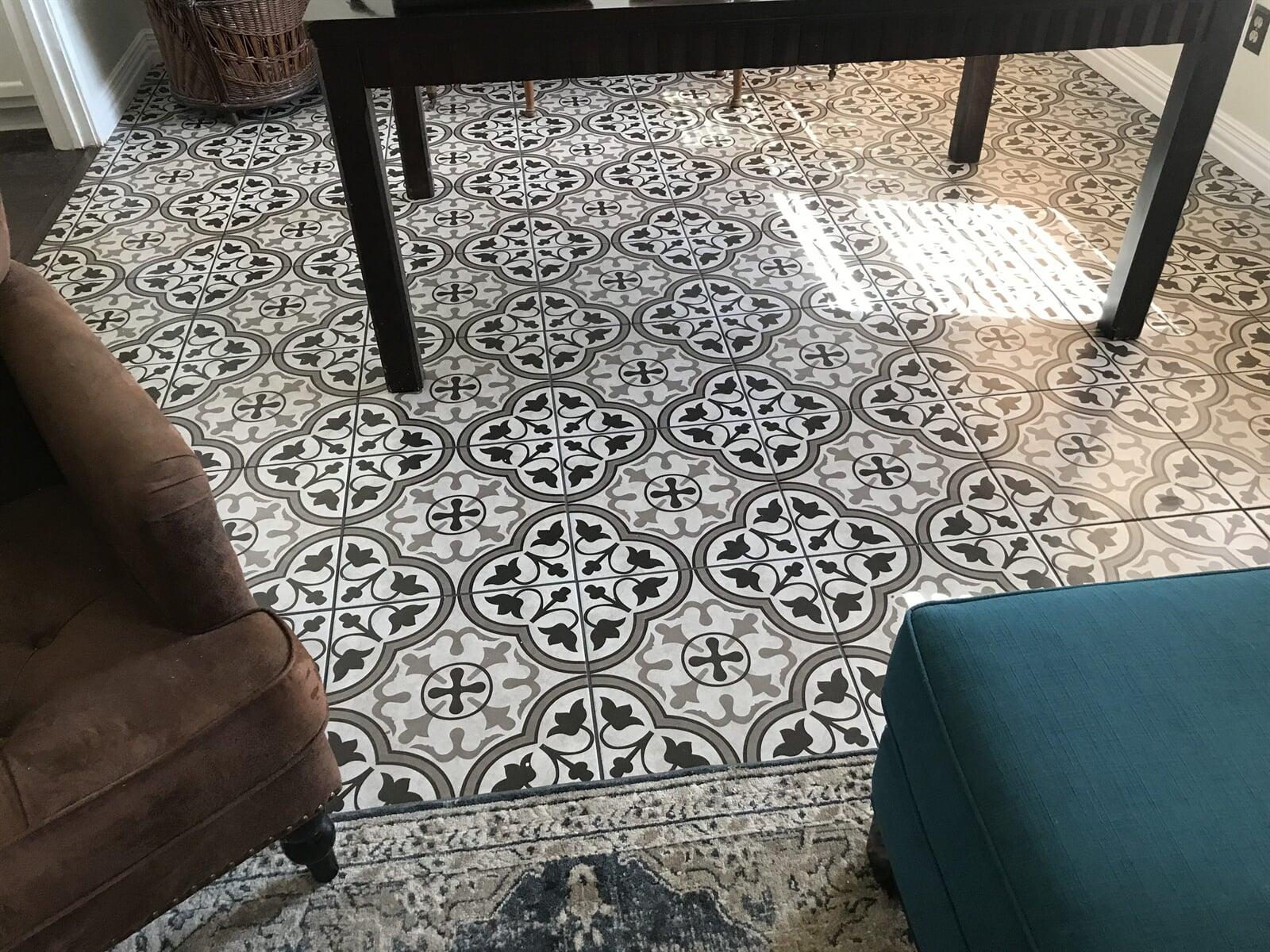 New Tile Floors for your den