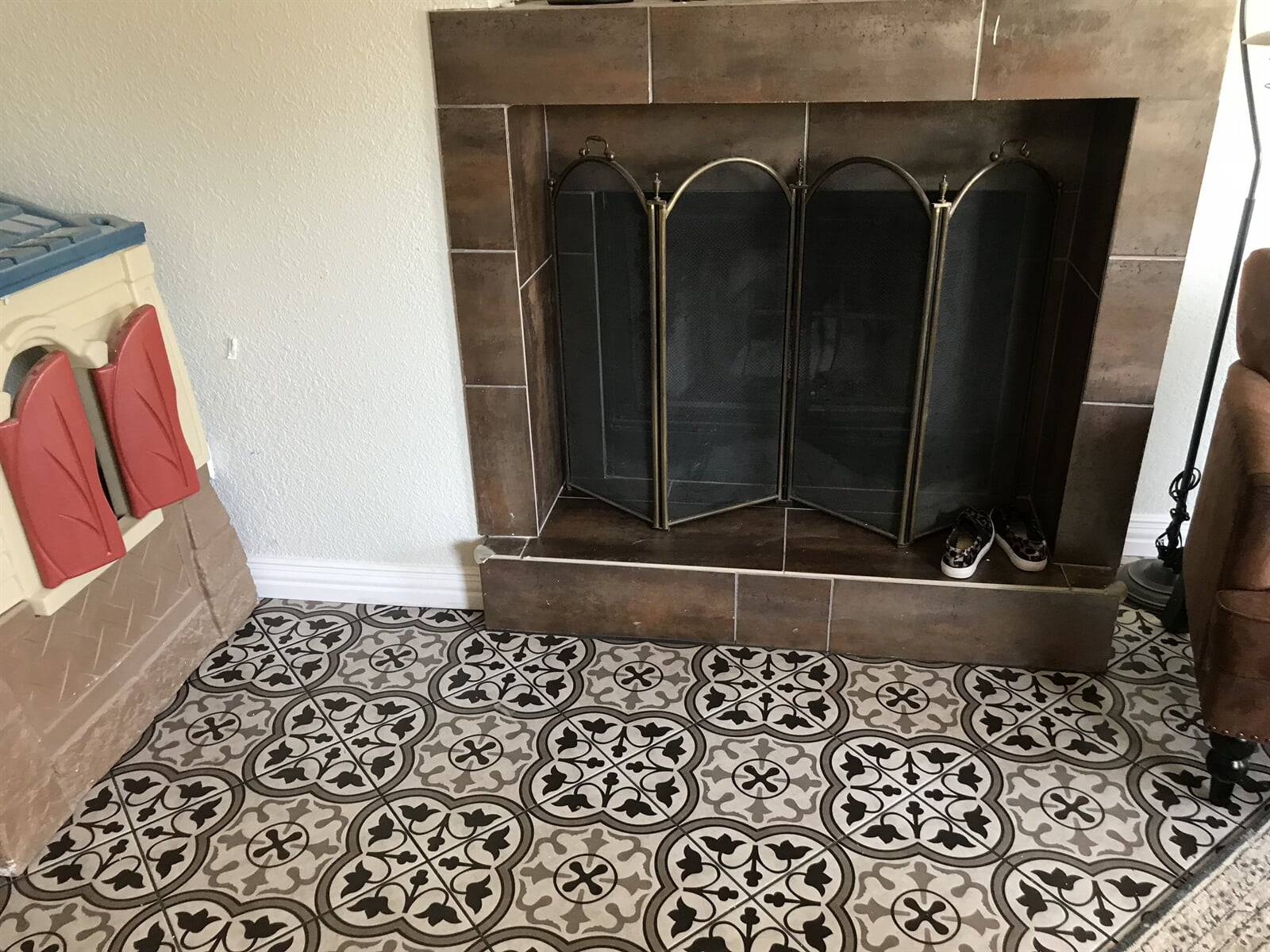 New patterned tile flooring
