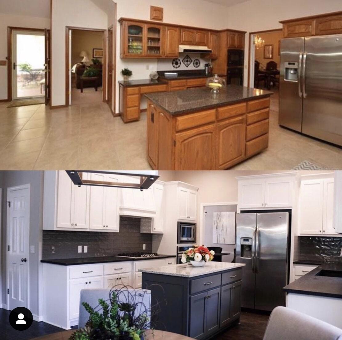 Kitchen remodel in Jenks, OK from Superior Wood Floors & Tile