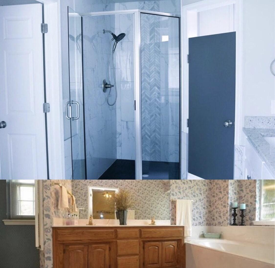 Bathroom remodel in Jenks, OK from Superior Wood Floors & Tile
