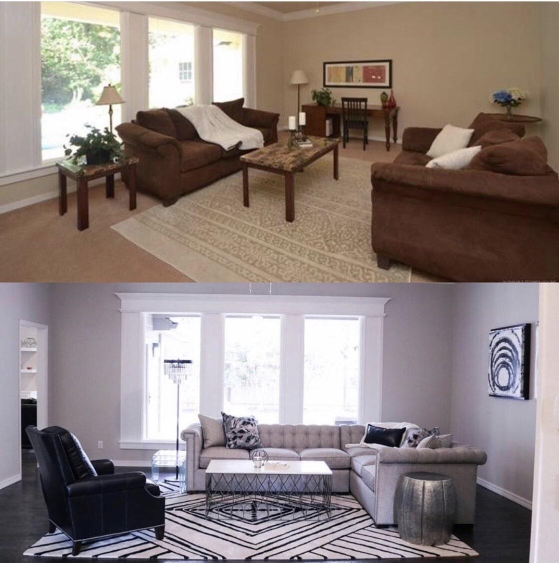 Livingroom remodel in Tulsa, OK from Superior Wood Floors & Tile