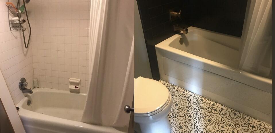 Bathroom remodel in Broken Arrow, OK from Superior Wood Floors & Tile