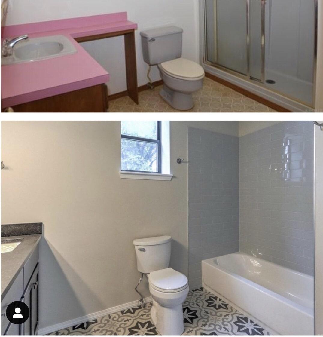 Bathroomm remodel in Bixby, OK from Superior Wood Floors & Tile