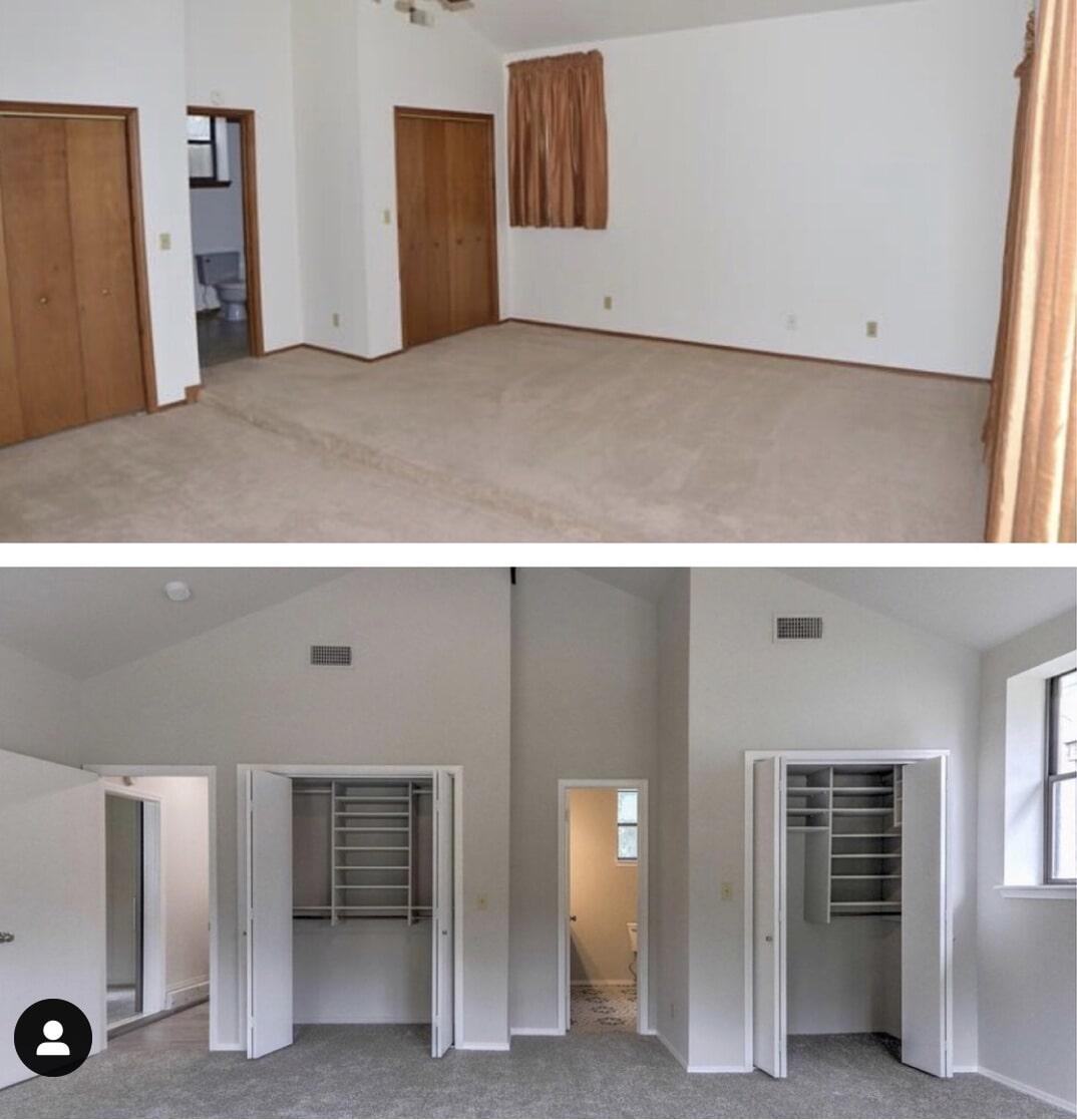 Bedroom remodel in Jenks, OK from Superior Wood Floors & Tile