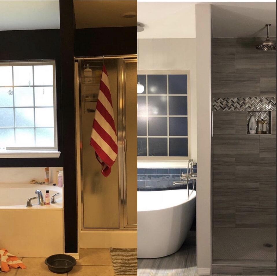 Bathroom remodel in Owasso, OK from Superior Wood Floors & Tile