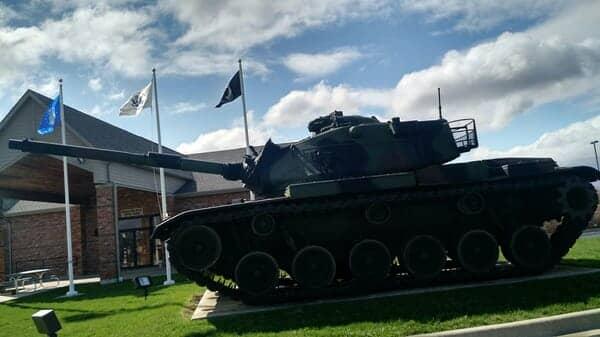 Tanker outside the VFW