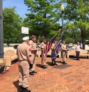 Veterans standing outside of VFW2199