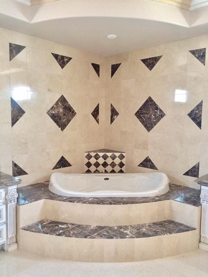 Immaculate tub surround installation from Century Flooring & Decor in Rancho Cucamonga, CA