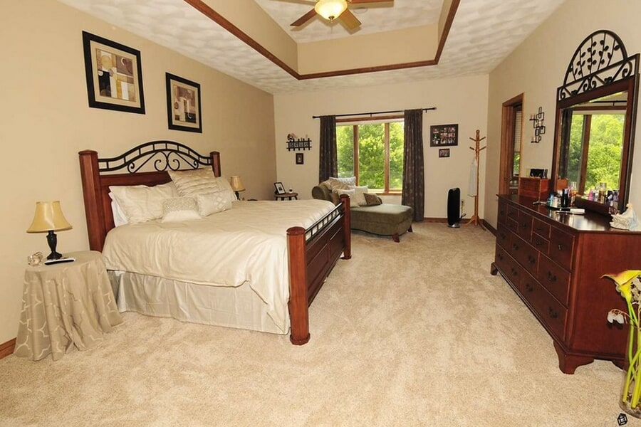 Bedroom carpet in McFarland, WI from Bisbee's Flooring Center