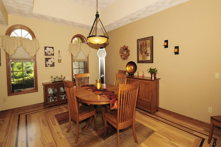 Custom wood flooring work in McFarland, WI from Bisbee's Flooring Center