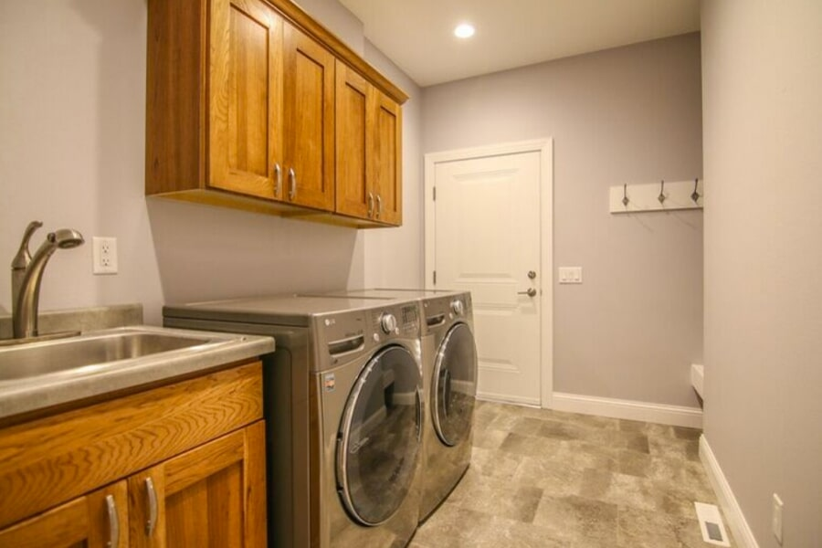 Laundry room work in Sun Prairie, WI from Bisbee's Flooring Center