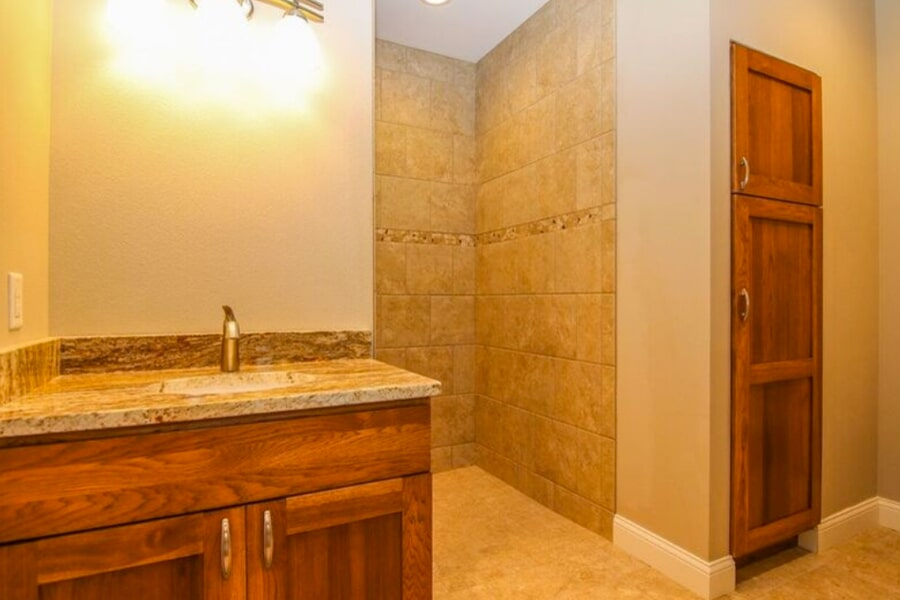 Walk in shower in Madison, WI from Bisbee's Flooring Center