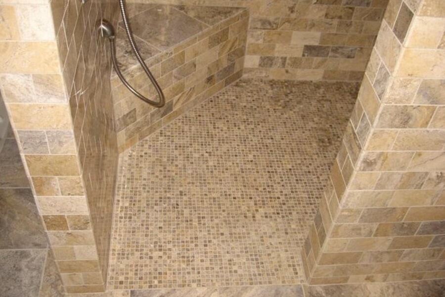Custom shower with tile in McFarland, WI from Bisbee's Flooring Center