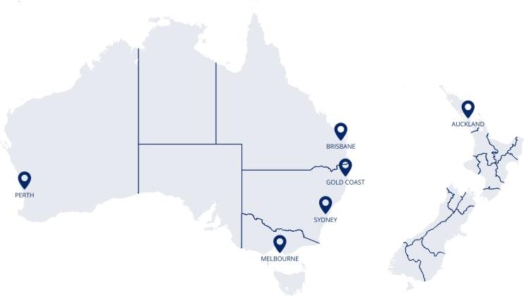 Faça intercâmbio em Perth, Melbourne, Sidney, Gold Coast, Brisbane ou Auckland com a Calamares!