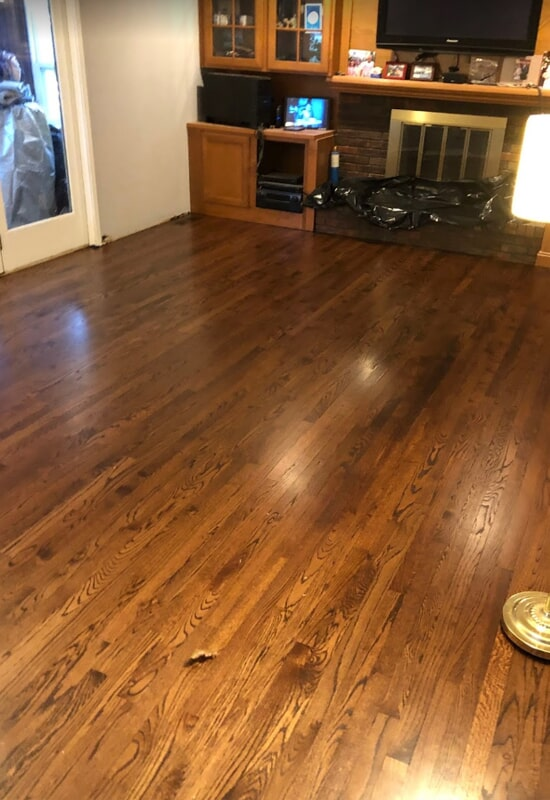 Hardwood flooring installation in St. Charles County, MO by Hometown Floors Online