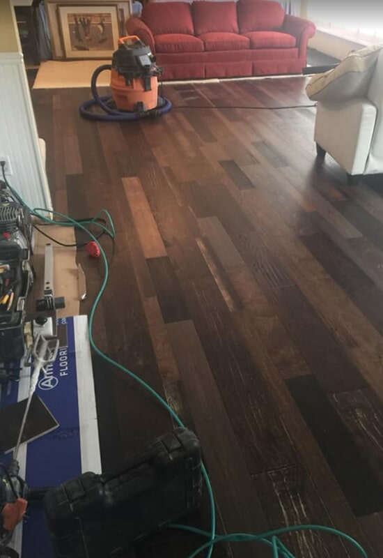 Hardwood refinishing in St. Charles County, MO by Hometown Floors Online